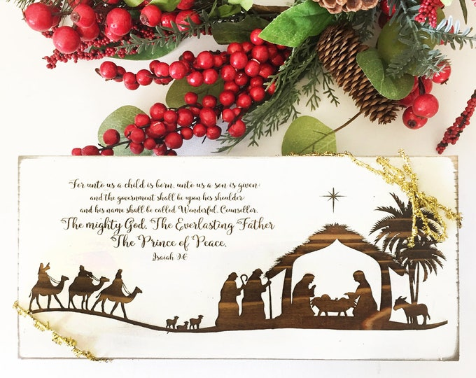 Rustic Christmas Nativity