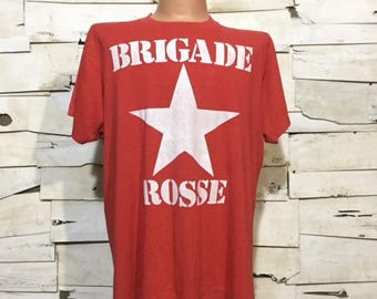 Vintage 80's Red Brigade T- Shirt (ps-ts-8)