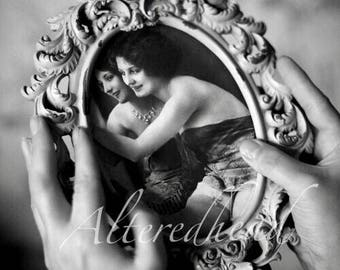 BURLESQUE Altered Photo By AlteredHead Vicorian Nude Black And White Photograph Modified Art Prints Etsy  Alteredhead