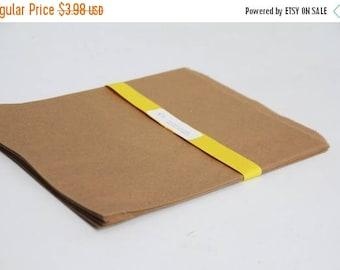 ON SALE Kraft Paper Bags Lot of 25 8.5x11