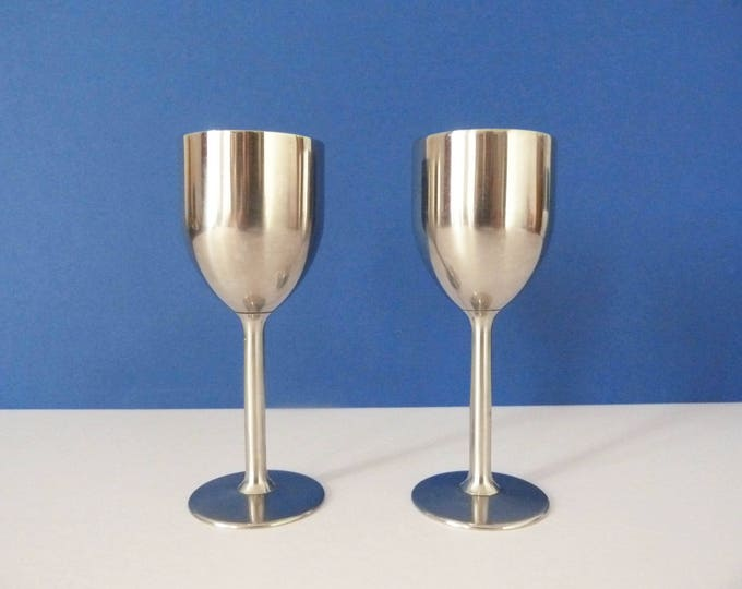 Brushed Stainless steel Goblets