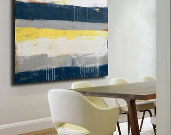 Beach Chic large wall art abstract painting