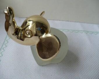 Vintage Avon Perfume Bottle Elephant Gift For Her, Gold Elephant Perfume Bottle, Anniversary Gift, Graduation Gift, PioneerFundraiser