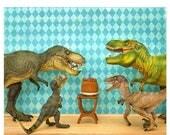 FALL SALE Dinosaur decor, T. rex birthday party: Raging Party