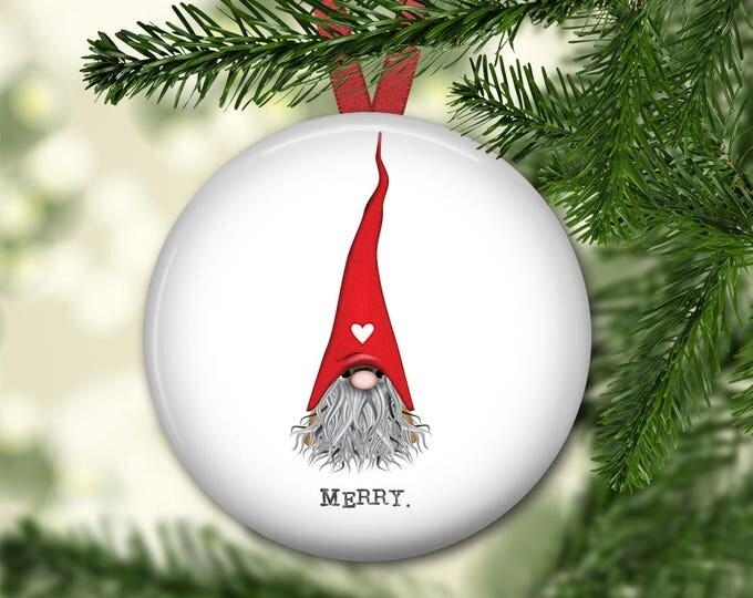 Christmas gnome ornament for tree - farmhouse Christmas ornament - gnome decorations - modern farmhouse decor - ORN-55