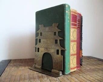 Vintage Folding Brass Pagoda Bookend