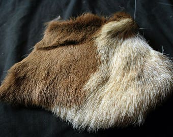 """Whitetail Deer Hide -  7 1/2 x 8"""", Professionally Tanned, Real Fur, Fly Tying and Crafts - odocoileus virginianus WDF20606"""
