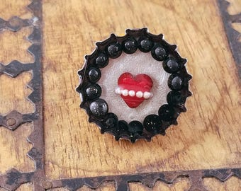 Heart of Pearls Magnet