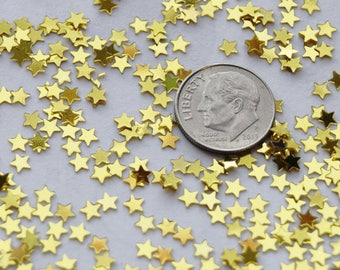 Chunky Glitter, Gold Stars, Shiny,  Decorative Embellishments (CG 2)