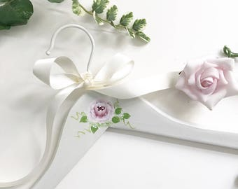 Bride Gown Hanger Hand Painted Wedding Gown Hanger