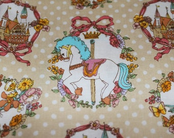 Carousel cameo adorable cotton fabric