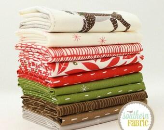 "Merrily - Half Yard Bundle - 10 - 18""x44"" Cuts - by Gingerber - Moda Quilt Fabric"