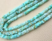 New Arrival,Full 15 Inch Strand, Superb-Quality, Rare PERUVIAN OPAL Square HEISHI Cut Beads,Brand New Stock,6.5-5mm size