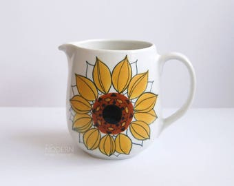 Arabia Finland Sunflower Aurinkoruusu Ceramic Pitcher by Hillka-Liisa Ahola
