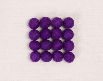 Felt Balls // Purple // Felt Pom, Felt Flower Supplies, Purple Pom, Felt Beads, Mobile Crafts, Felt Embellishments, Pom Garland, Kids Craft
