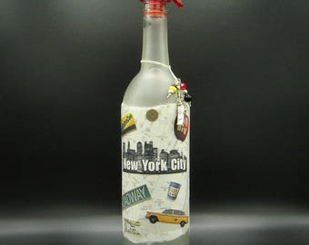 Love New York City Tap Water Collage Bottle - Free shipping