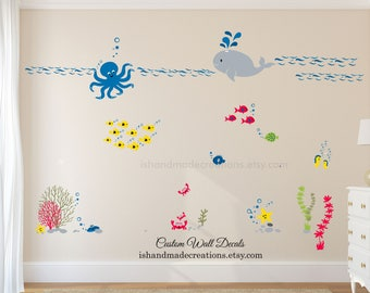 Ocean Wall Decal   Etsy Part 28