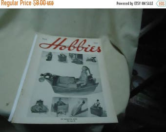 Back Open Sale Vintage May 1955 Hobbies Magazine, Volume 60 No. 3,  collectable