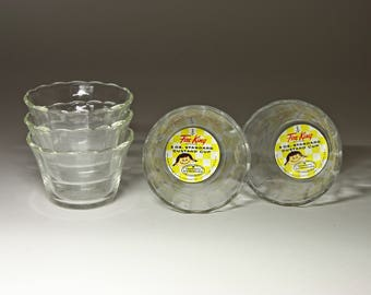 Vintage Fire-King Custard Cups by Anchor Hocking with Original Labels - circa 1950's