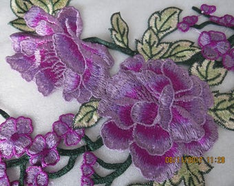 Purple and Pink sew on applique