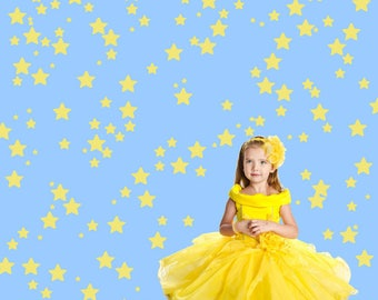 Star Wall Decals, Kids Wall Decals,  Non-toxic Fabric Wall Decals for Kids REUSABLE REPOSITIONABLE Kids Decals, A113