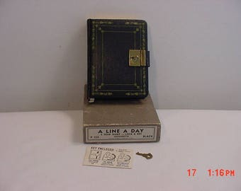 Vintage A Line A Day 5 Year Diary With Lock & Key In Original Box 17 - 984