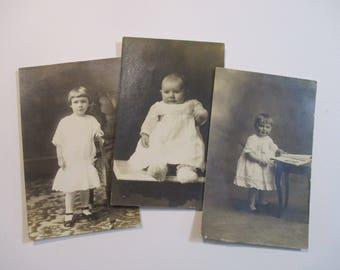 Antique Children Post cards-Photographs