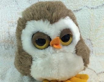 "20% SALE 1982 Dakin Owl Plush Stuffed Animal 7"""