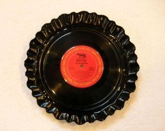 Billy Joel Record Bowl Serving Platter - Recycled Vinyl Album