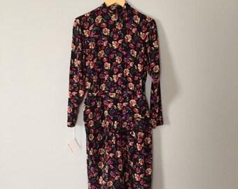 25% OFF SALE... Ann Taylor silk dress | floral silk wrap skirt dress with bow