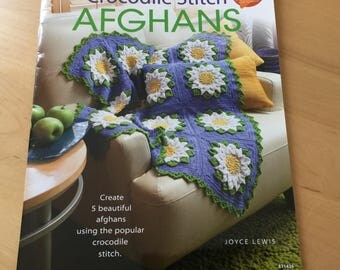 Crocodile Stitch Afghans Crochet Book by Annie's Crochet Pattern Book, Afghans Crochet Design, Unique Flower Crochet Patterns, Gift for Her