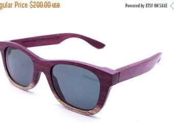 20% off SUMMER SALE WALKER2012  handmade purple wood wooden eyeglasses glasses frame