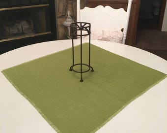 Avocado Burlap Table Squares-Burlap Table Covers-Select Your Size and Amount Needed-Rustic Burlap Squares