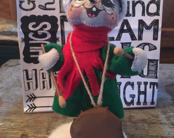 Vintage Annalee Dolls Drummer Mouse Holiday Christmas