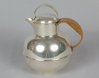 Vintage pitcher silver plate Tea pot Bernard Rice's Sons #2134 Apollo EPC Cream pitcher Small teapot  Syrup pitcher