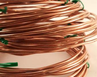 12 gauge solid round wire raw - 5 feet
