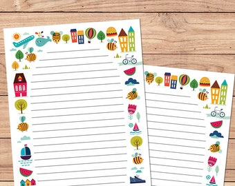Fun in the Sun - A5 Stationery - 12, 24 or 48 sheets