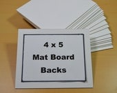 White Matboard Blanks 4 x 5 Matboard Backs for Photos Art and Crafts