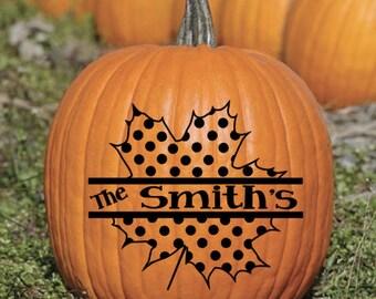 Fall Pumpkin  Vinyl Decal Sticker