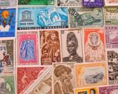 Zulu Nation 50 Vintage African Postage Stamps Philately Africa Rwanda Ghana Ethiopia Nigeria Liberia Hieroglyphics Egypt Egyptian Lover Nile