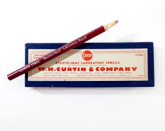 Box of Wax Laboratory Pencils, W H. Curtin Company
