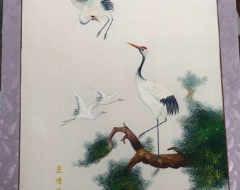 Vintage Chinese Silk Embroidery on Silk