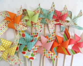 Birthday Decorations Paper Pinwheel Party Favors Summer Birthday Party Decorations Birthday Favors Flower Birthday Decor Table Centerpiece