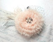 Blush Pink and Silver Headband-Flower Girl Hair Accessory-Baby Headband-Photo Prop