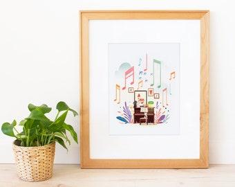 Music Forest Art Print