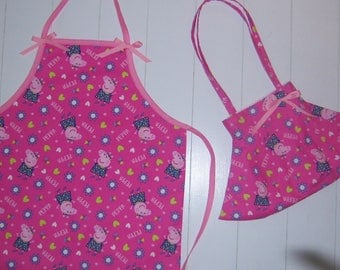 Peppa Pig Apron and Purse Duo