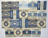 Hand Lettered VIEWMASTER REELS Lot of 19 Vintage Find Concentric & Linear Styles