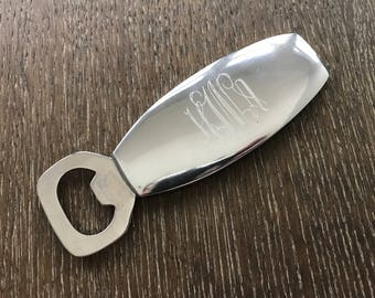 Engraved Monogram Bottle Opener - Graduation Gift - Beer Bottle Opener
