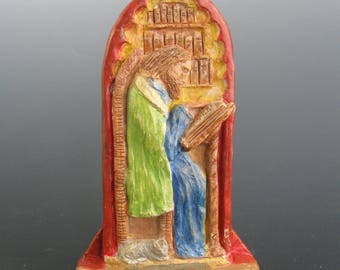 St. Isidore of Seville: Patron of Internet Technology Professionals, Scholars, Scientists; Handmade Statue