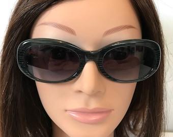 90's Ladies Krizia Italy Deep Green Designer Sunglasses Retro Fashion Free Shipping!
